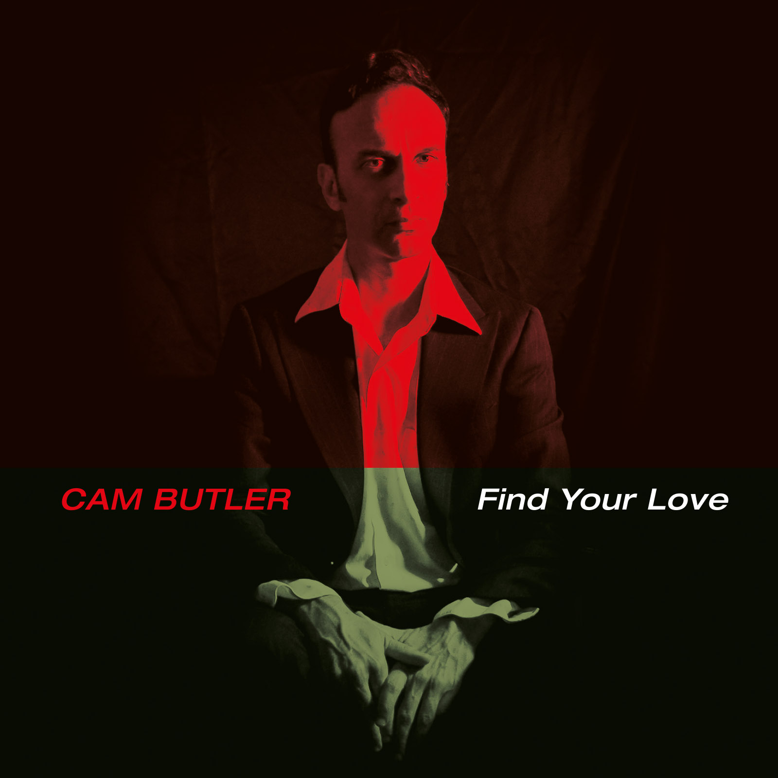 Album cover, showing Cam Butler in a white shirt and black suit, facing the camera.