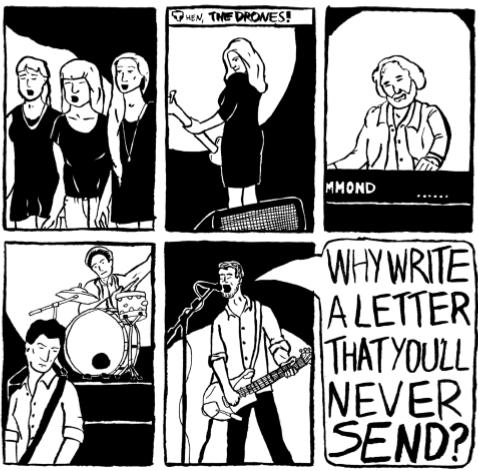The Drones' comic strip excerpt
