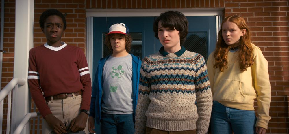 Stranger Things Season 2: Caleb McLaughlin, Gaten Matarazzo, Finn Wolfhard and Sadie Sink.