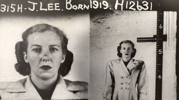 Two images of Jean Lee side-by-side; on the left a close-up, on the right a full body shot.