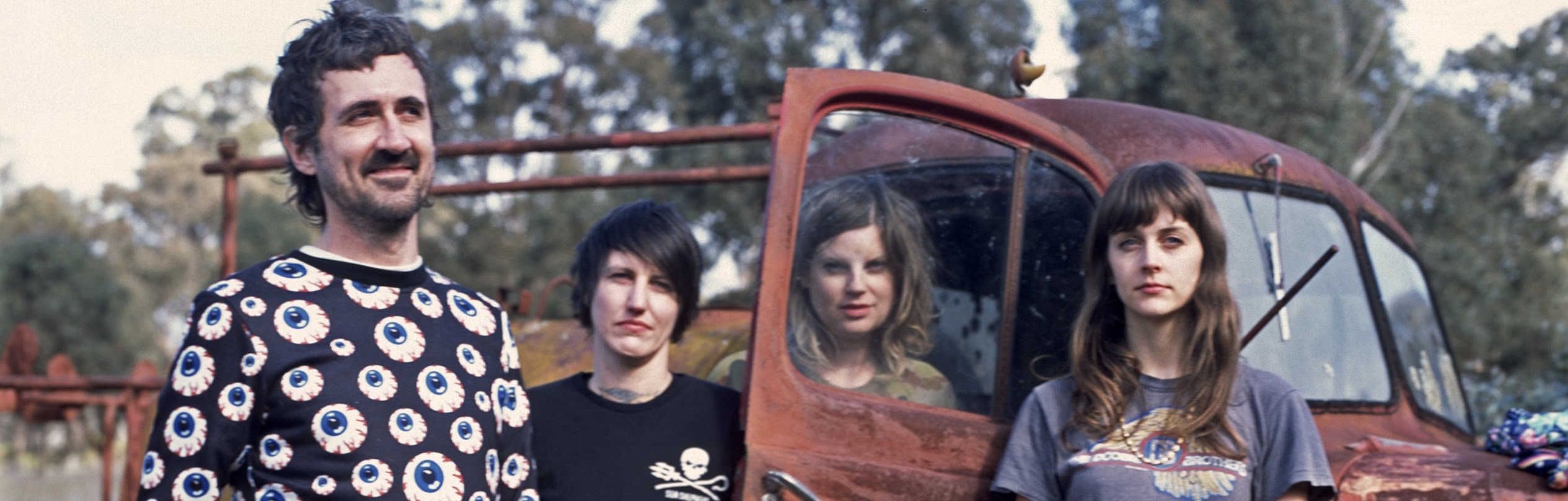 Tropical F*ckstorm (l-r: Gareth Liddiard, Lauren Hammel, Fiona Kitschin and Erica Dunn) photographed in Nagambie, Victoria, on 5 August 2017 by Bleddyn Butcher