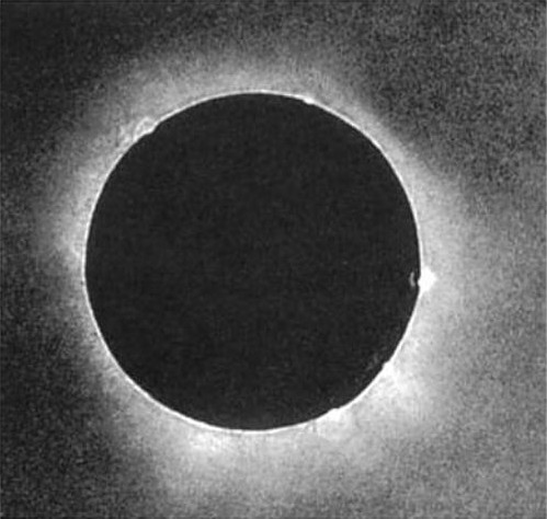 The first photograph of a solar eclipse, taken by Julius Berkowski