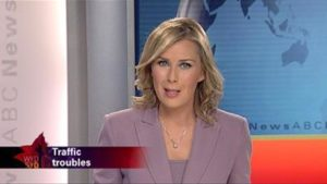Felicity Davey presenting ABC TV News