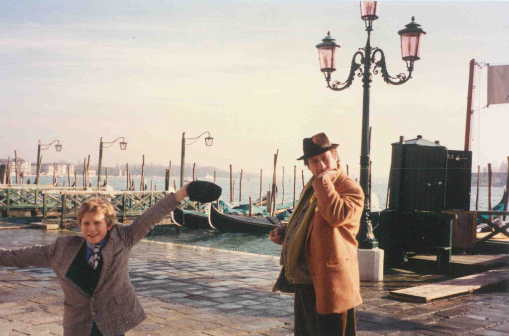 Evan and Ray Hughes in Venice in 1993