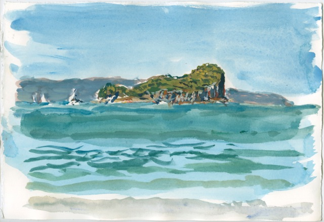 painting of Lion Island by Tom Carment