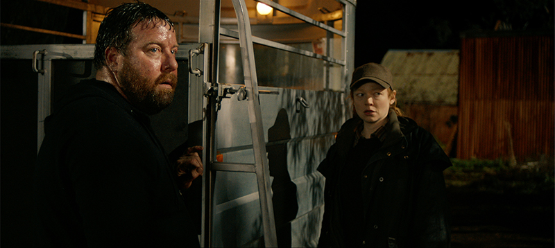 Shane Jacobson, left, and Sarah Snook